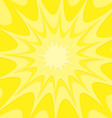 yellow explosion background vector image vector image
