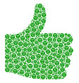 yes figure of smiled sticker icons vector image