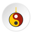 ying yang symbol of harmony and balance icon vector image vector image