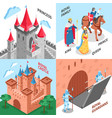 royal castle design concept vector image