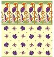 pea flowers ornament vector image