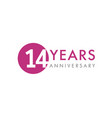 14 years logo vector image vector image