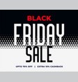 abstract black friday sale halftone style vector image vector image