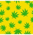 Abstract Cannabis Seamless Pattern Background vector image