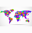 abstract world map in geometric polygonal style vector image vector image
