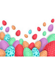 background with colorful easter eggs vector image vector image