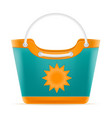 beach bag for women stock vector image vector image