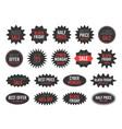 black friday sale round starburst sticker set vector image