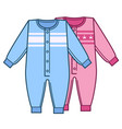 bodysuits for newborn girl and boy kids clothes vector image