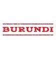 Burundi Watermark Stamp vector image vector image