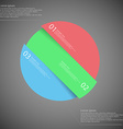 Circle motif askew divided to three color parts on vector image vector image