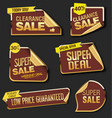 collection of labels stickers and tags flat vector image vector image