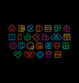 colored letters from geometric shapes decorative vector image vector image