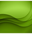 Colorful green lines background vector image vector image