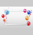 colorful party frame and confetti vector image vector image