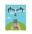 controlling big size camera drone using radio vector image