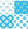 Cottage patterns set vector image vector image
