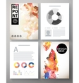 Creative modern template for an corporate report vector image