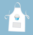 cupcake apron vector image vector image