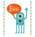 cute monster vector image