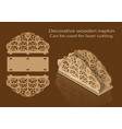 decorative wooden napkin can be used for laser vector image vector image