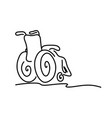 doodle wheelchair with copyspace on the right vector image vector image