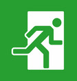 exit green color sign emergency exit icon vector image