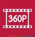film strip icon design vector image vector image