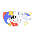 fishing - modern colorful flat design style web vector image