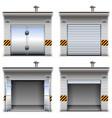 garages vector image