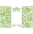 greenery ecology floral background decoration vector image vector image