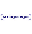grunge textured albuquerque stamp seal inside vector image vector image
