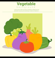 Healthy food background with vegetable vector image vector image