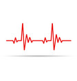 heart pulse line vector image