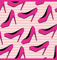 high heels pattern set on pop art linear color vector image