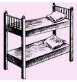 kids bunk bed vector image vector image