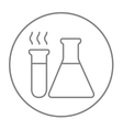 Laboratory equipment line icon vector image