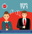 news anchor man and woman vector image vector image