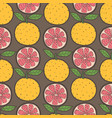 orange fruit seamless pattern background vector image vector image