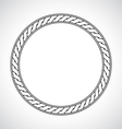 Ornamental circular simple classical frame vector image