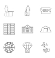 People fugitives icons set outline style vector image vector image