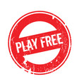 play free rubber stamp vector image