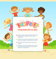 poster for children party funny different vector image vector image