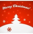 Red and white Christmas tree applique vector image