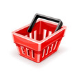 red empty shopping basket icon vector image vector image