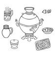 samovar with tea and lemon vector image