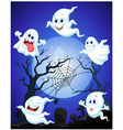 Scene with Halloween ghost vector image
