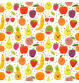 Seamless pattern with happy fruits Cute background vector image vector image