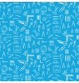 Seamless pattern with school supplies vector image vector image