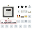 set of 24 electrics icons vector image